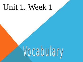 3rd Grade Reading Wonders Unit 1, Week 1, Vocabulary Powerpoint
