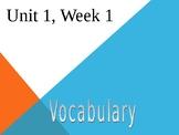 3rd Grade Reading Wonders Unit 1, Week 1, Vocabulary Powerpoint