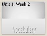 3rd Grade Reading Wonders, Unit 1, Week 2 Vocabulary Powerpoint