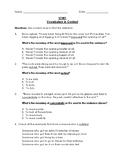 Reading Wonders 3rd Grade Vocabulary in Context Unit 1 Bun