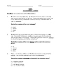 Reading Wonders 3rd Grade Vocabulary in Context Unit 2 Bundle (Tests)