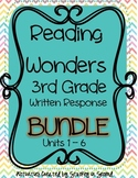 Reading Wonders Companion 3rd Grade WRITTEN RESPONSE Bundle {Units 1-6}