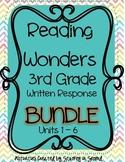 Reading Wonders 2013 Companion 3rd Grade WRITTEN RESPONSE Bundle {Units 1-6}