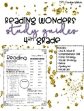Reading Wonders 4th Grade Study Guides {Entire Year}