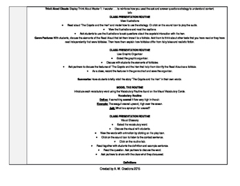 McGraw-Hill Reading Wonders 4th Grade UNIT 2 WEEK 1 Whole Group Plans