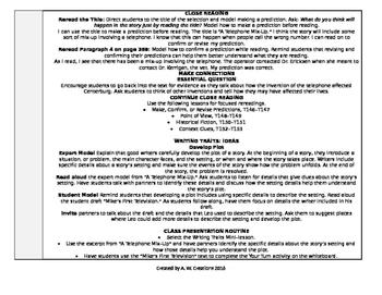 Reading Wonders 4th Grade UNIT 4 WEEK 3 Whole Group Plans
