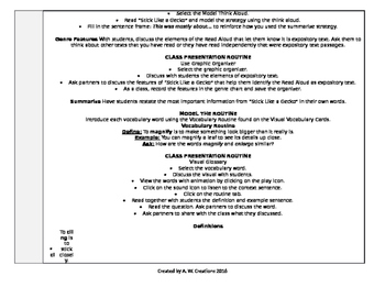 McGraw-Hill Reading Wonders 4th Grade UNIT 5 WEEK 4 Whole Group Plans