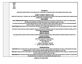 Reading Wonders 4th Grade UNIT 6 WEEK 5 Whole Group Plans