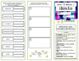 Reading Wonders 4th Grade Unit 3 Vocabulary/Spelling Trifold