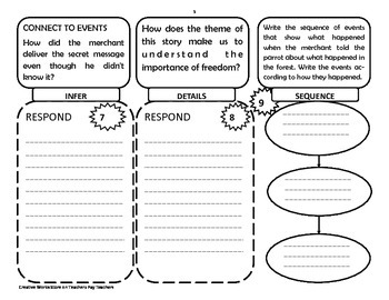 Reading Wonders 4th Grade  Unit Two - Tri-Folds Only ( bundle)
