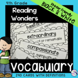 Reading Wonders 4th Grade Vocabulary Cards {Printer Friend
