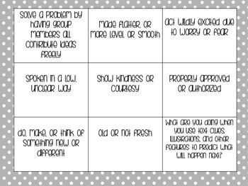 Reading Wonders - 4th grade - Unit 1 Week 1 Vocabulary Tic-Tac-Toe