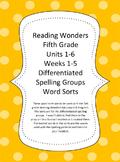 Reading Wonders 5th Grade Bundled Word Sorts Units 1-6