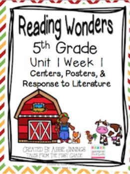 5th Grade Reading Wonders- Unit 1 Week 1