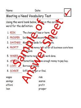 Reading Wonders 5th Grade Unit 5 Vocabulary Tests