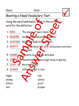 Reading Wonders 5th Grade Unit 5 Vocabulary Tests | TpT