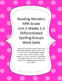 Reading Wonders 5th Grade Unit 5 Word Sorts