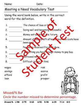 Reading Wonders 5th Grade Units 1-6  Vocabulary Tests