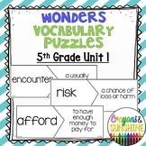 Reading Wonders 5th Grade Vocabulary Puzzles Unit 1 (McGraw Hill)