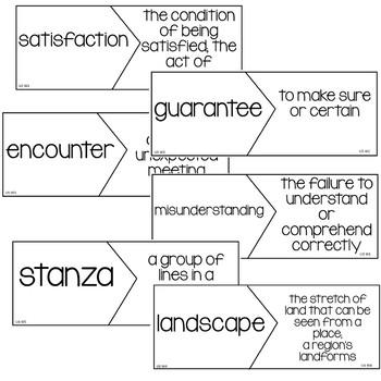 Reading Wonders 5th Grade Vocabulary Puzzles Unit 1 (McGraw Hill)