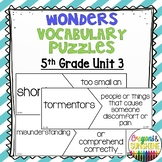 Reading Wonders 5th Grade Vocabulary Puzzles Unit 3 (McGraw Hill)