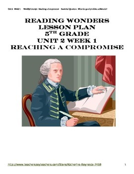 McGraw-Hill Reading Wonders Grade 5 Unit 2 Week 1 Lesson Plan and Centers