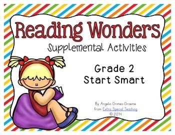 Reading Wonders Activities for Grade 2 Start Smart FREEBIE!