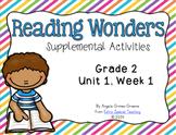 Reading Wonders Activities for Grade 2 Unit 1, Week 1
