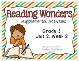 Reading Wonders Activities for Grade 2 Unit 2, Week 2