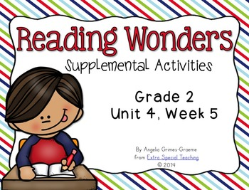 Reading Wonders Activities for Grade 2 Unit 4, Week 5
