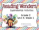 Reading Wonders Activities for Grade 2 Unit 5, Week 1