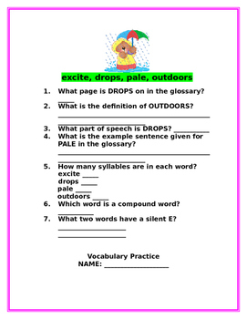Reading Wonders April Rain Song, Rain Poem, Helicopters, and Windy Tree Packet