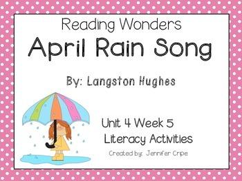 Reading Wonders ~ April Rain Song (Unit 4, Week 5)