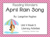 Reading Wonders ~ April Rain Song (Unit 4, Week 5)