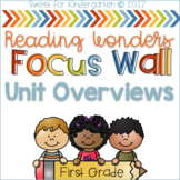 First Grade Focus Wall- Unit Overviews (aligned with Reading Wonders)