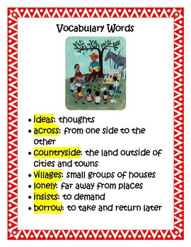 Reading Wonders Biblioburro: A True Story from Colombia Literature Packet