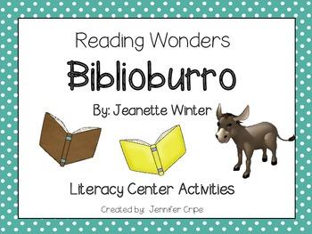 Reading Wonders ~ Biblioburro activities (Unit 3, Week 3)