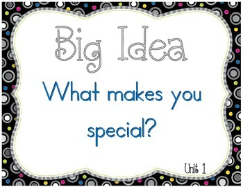 Reading Wonders Big Idea Posters and Headers for First Grade