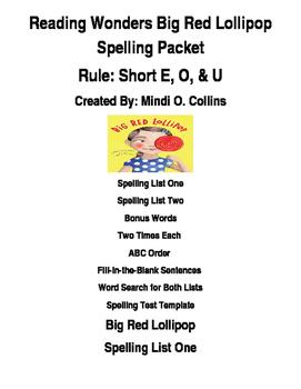 Big Red Lollipop Worksheets & Teaching Resources | TpT