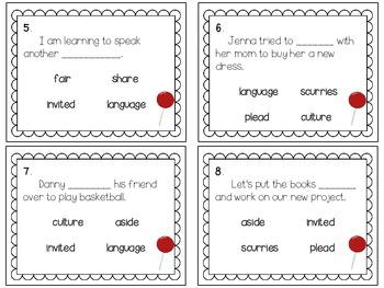 Reading Wonders ~ Big Red Lollipop story activities (Unit 1, Week 2)