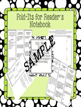 "Reading Wonders  ""Bundled""  Comprehension Fold-its Units 1-6 for Grade 3"