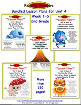 *Reading Wonders  Bundled Lesson Plan Unit 4 Weeks 1_5