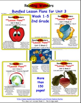 *Reading Wonders: Bundled Lesson Plans Unit 3 Week 1-5