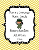 Reading Wonders Common Core Glossary Hunts ALL 6 UNITS Grade 2