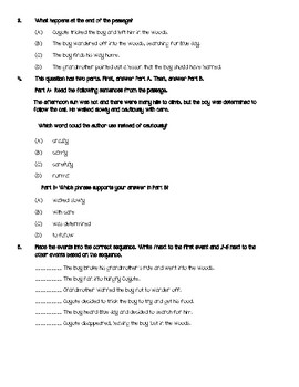 """Reading Wonders """"Coyote's Song"""" Close Read Questions ~ Unit 1, Week 1"""