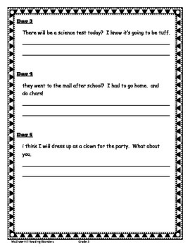 Reading Wonders- Daily Lang. Activity Unit 1-1 Gr.5