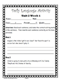 Reading Wonders- Daily Lang. Activity Unit 2 Gr.5 Bundle