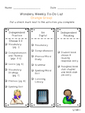 Reading Wonders Differentiated Centers Checklists - Grade