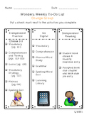 Reading Wonders Differentiated Centers Checklists - Grade 4 Unit 4