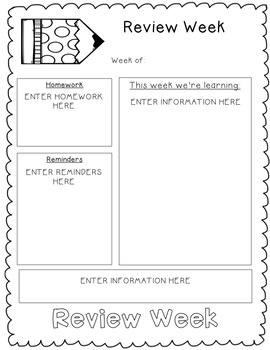 Reading Wonders EDITABLE Newsletters 2nd Grade Unit Five